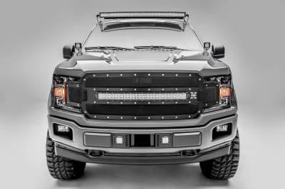 ZROADZ - 2018-2020 Ford F-150 Lariat, Limited Front Bumper Center LED Kit with (2) 3 Inch LED Pod Lights - PN# Z325711-KIT - Image 5
