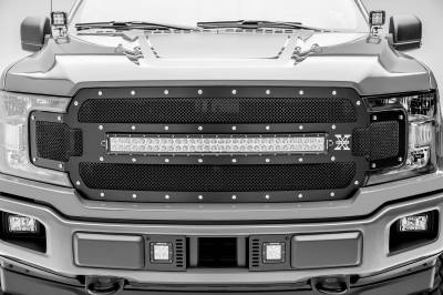 ZROADZ - 2018-2020 Ford F-150 Lariat, Limited Front Bumper Center LED Kit with (2) 3 Inch LED Pod Lights - PN# Z325711-KIT - Image 6