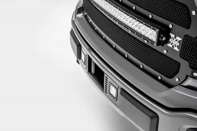 ZROADZ - 2018-2020 Ford F-150 Lariat, Limited Front Bumper Center LED Kit with (2) 3 Inch LED Pod Lights - PN# Z325711-KIT - Image 8