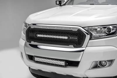 ZROADZ - 2015-2018 Ford Ranger T6 Front Bumper Center LED Kit with (1) 20 Inch LED Straight Double Row Light Bar - PN #Z325761-KIT - Image 1
