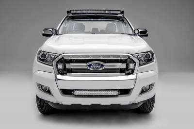 ZROADZ - 2015-2018 Ford Ranger T6 Front Bumper Center LED Kit with (1) 20 Inch LED Straight Double Row Light Bar - PN #Z325761-KIT - Image 3