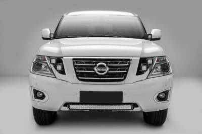 ZROADZ - 2010-2017 Nissan Patrol Y62 Front Bumper Center LED Bracket to mount 30 Inch LED Light Bar - PN #Z327871 - Image 7