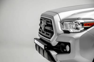 ZROADZ - 2018-2021 Toyota Tacoma Front Bumper Center LED Kit with (1) 30 Inch LED Straight Double Row Light Bar - PN #Z329511-KIT-D - Image 1