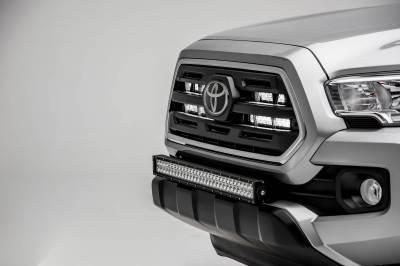 ZROADZ - 2018-2021 Toyota Tacoma Front Bumper Center LED Kit with (1) 30 Inch LED Straight Double Row Light Bar - PN #Z329511-KIT-D - Image 2