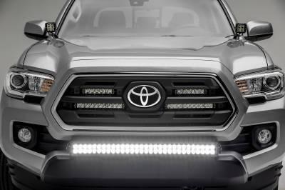 ZROADZ - 2018-2021 Toyota Tacoma Front Bumper Center LED Kit with (1) 30 Inch LED Straight Double Row Light Bar - PN #Z329511-KIT-D - Image 5