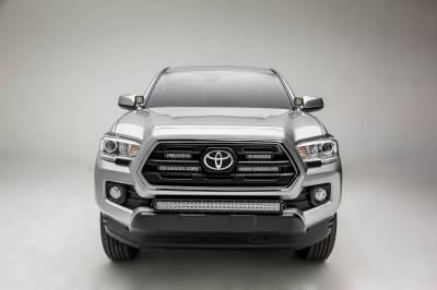 ZROADZ - 2018-2021 Toyota Tacoma Front Bumper Center LED Kit with (1) 30 Inch LED Straight Double Row Light Bar - PN #Z329511-KIT-D - Image 7