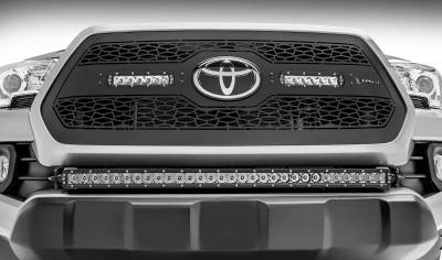 ZROADZ OFF ROAD PRODUCTS - 2018-2021 Toyota Tacoma Front Bumper Center LED Kit with (1) 30 Inch LED Straight Single Row Slim Light Bar - PN #Z329511-KIT-S - Image 5