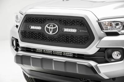 ZROADZ OFF ROAD PRODUCTS - 2018-2021 Toyota Tacoma Front Bumper Center LED Kit with (1) 20 Inch LED Straight Single Row Slim Light Bar - PN #Z329512-KIT - Image 5