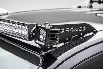 ZROADZ - Universal Front Roof LED Bracket to mount (2) 3 Inch LED Pod Lights - PN #Z330001 - Image 11
