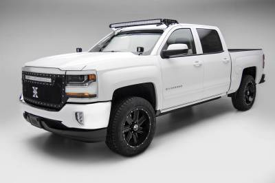 ZROADZ OFF ROAD PRODUCTS - Silverado, Sierra Front Roof LED Kit with (1) 50 Inch LED Curved Double Row Light Bar - PN #Z332081-KIT-C - Image 1