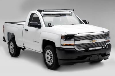 ZROADZ OFF ROAD PRODUCTS - Silverado, Sierra Front Roof LED Kit with (1) 50 Inch LED Curved Double Row Light Bar - PN #Z332081-KIT-C - Image 2