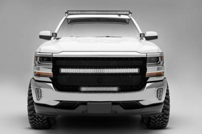 ZROADZ OFF ROAD PRODUCTS - Silverado, Sierra Front Roof LED Kit with (1) 50 Inch LED Curved Double Row Light Bar - PN #Z332081-KIT-C - Image 3