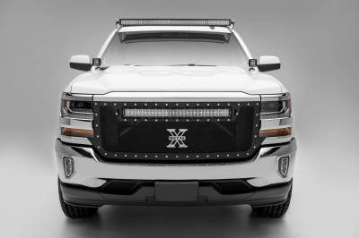 ZROADZ - Silverado, Sierra Front Roof LED Kit with (1) 50 Inch LED Curved Double Row Light Bar - PN #Z332281-KIT-C - Image 7