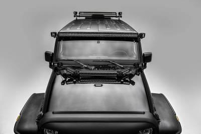 ZROADZ OFF ROAD PRODUCTS - 2007-2018 Jeep JK Front Roof LED Bracket to mount (2) 3 Inch LED Pod Lights - PN #Z334811 - Image 4