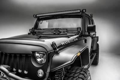 ZROADZ OFF ROAD PRODUCTS - 2007-2018 Jeep JK Front Roof LED Bracket to mount (2) 3 Inch LED Pod Lights - PN #Z334811 - Image 5