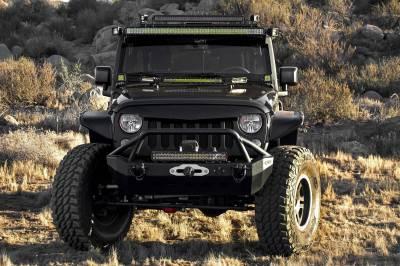 ZROADZ OFF ROAD PRODUCTS - 2007-2018 Jeep JK Front Roof LED Bracket to mount (2) 3 Inch LED Pod Lights - PN #Z334811 - Image 7
