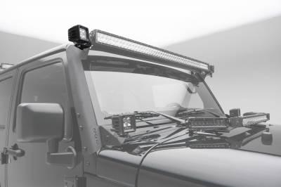 ZROADZ - 2007-2018 Jeep JK Front Roof Side LED Kit with (2) 3 Inch LED Pod Lights - PN #Z334811-KIT - Image 1
