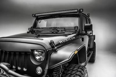 ZROADZ - 2007-2018 Jeep JK Front Roof Side LED Kit with (2) 3 Inch LED Pod Lights - PN #Z334811-KIT - Image 4