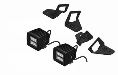 ZROADZ - 2007-2018 Jeep JK Front Roof Side LED Kit with (2) 3 Inch LED Pod Lights - PN #Z334811-KIT - Image 6