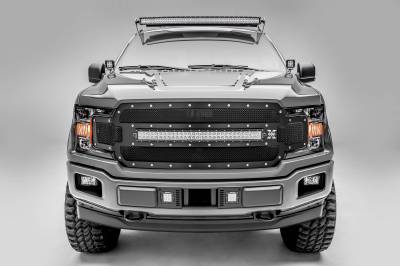 ZROADZ - Ford F-150, Raptor Front Roof LED Kit with 52 Inch LED Curved Double Row Light Bar - PN #Z335662-KIT-C - Image 4
