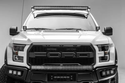 ZROADZ - Ford F-150, Raptor Front Roof LED Kit with 52 Inch LED Curved Double Row Light Bar - PN #Z335662-KIT-C - Image 11
