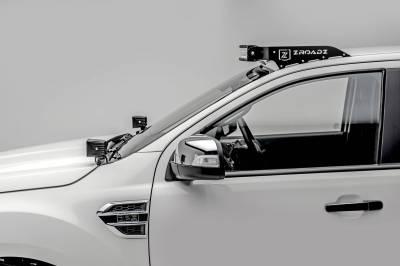 ZROADZ - 2015-2018 Ford Ranger T6 Front Roof LED Bracket to mount (1) 40 Inch Curved LED Light Bar - PN #Z335761 - Image 1
