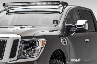 ZROADZ - 2016-2019 Nissan Titan Front Roof LED Bracket to mount (1) 50 Inch Curved LED Light Bar - PN #Z337581 - Image 1