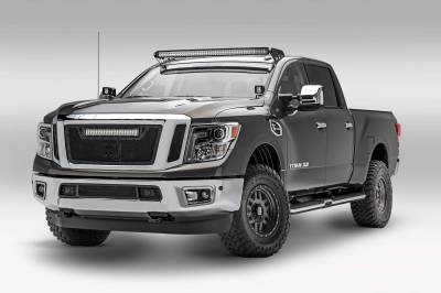 ZROADZ - 2016-2019 Nissan Titan Front Roof LED Kit with (1) 50 Inch LED Curved Double Row Light Bar - PN #Z337581-KIT-C - Image 1