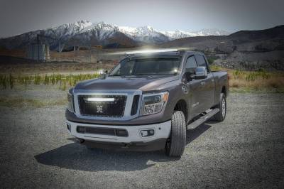 ZROADZ - 2016-2019 Nissan Titan Front Roof LED Kit with (1) 50 Inch LED Curved Double Row Light Bar - PN #Z337581-KIT-C - Image 4