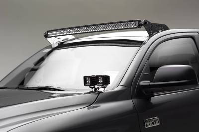 ZROADZ - 2007-2021 Toyota Tundra Front Roof LED Kit with 50 Inch LED Curved Double Row Light Bar - PN #Z339641-KIT-C - Image 2