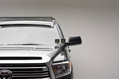 ZROADZ - 2007-2021 Toyota Tundra Front Roof LED Kit with 50 Inch LED Curved Double Row Light Bar - PN #Z339641-KIT-C - Image 3