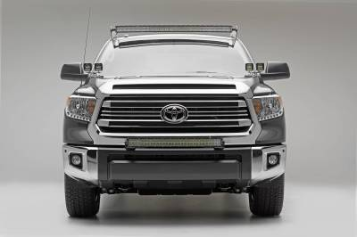 ZROADZ - 2007-2021 Toyota Tundra Front Roof LED Kit with 50 Inch LED Curved Double Row Light Bar - PN #Z339641-KIT-C - Image 6