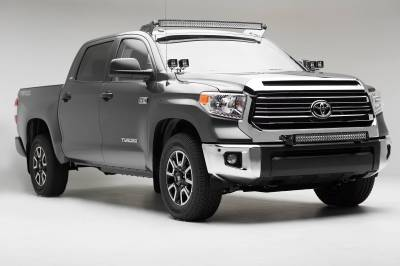 ZROADZ - 2007-2021 Toyota Tundra Front Roof LED Kit with 50 Inch LED Curved Double Row Light Bar - PN #Z339641-KIT-C - Image 7