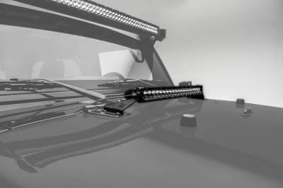 ZROADZ - 2007-2018 Jeep JK Hood Hinge LED Kit with (1) 20 Inch LED Straight Single Row Slim Light Bar - PN #Z344811-KIT - Image 1