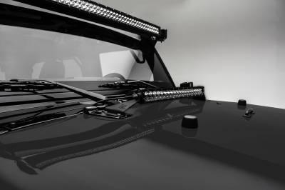 ZROADZ - 2007-2018 Jeep JK Hood Hinge LED Kit with (1) 20 Inch LED Straight Single Row Slim Light Bar - PN #Z344811-KIT - Image 2