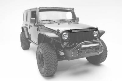 ZROADZ - 2007-2018 Jeep JK Above Grille LED Bracket to mount 30 Inch Dual Row LED Light Bar - PN #Z344821 - Image 1