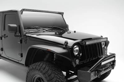 ZROADZ - 2007-2018 Jeep JK Above Grille LED Bracket to mount 30 Inch Dual Row LED Light Bar - PN #Z344821 - Image 3