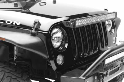 ZROADZ - 2007-2018 Jeep JK OEM Grille LED Kit with (1) 30 Inch LED Straight Double Row Light Bar - PN #Z344821-KIT - Image 4