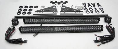 ZROADZ - Universal Modular Rack LED Kit with (2) 30 Inch LED Straight Double Row Light Bars, (2) 3 Inch LED Pod Lights - PN #Z350040-KIT-A - Image 2