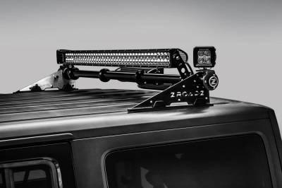 ZROADZ - Jeep JK, JL Modular Rack LED Bracket adjustable to mount up to (4) various size LED Light Bars - PN #Z350050-JK - Image 3