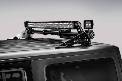 ZROADZ - Jeep JK, JL Modular Rack LED Kit with (1) 40 Inch (1) 30 Inch Straight Double Row Light Bars, (2) 3 Inch LED Pod Lights - PN #Z350050-JK-KIT-A - Image 14