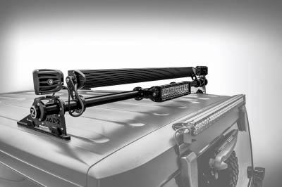 ZROADZ OFF ROAD PRODUCTS - Jeep JK, JL Modular Rack LED Kit with (1) 40 Inch (1) 20 Inch Straight Double Row Light Bars, (2) 3 Inch LED Pod Lights - PN #Z350050-JK-KIT-B - Image 2