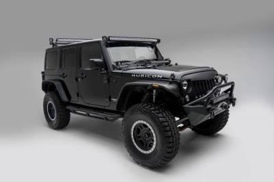 ZROADZ OFF ROAD PRODUCTS - Jeep JK, JL Modular Rack LED Kit with (1) 40 Inch (1) 20 Inch Straight Double Row Light Bars, (2) 3 Inch LED Pod Lights - PN #Z350050-JK-KIT-B - Image 12