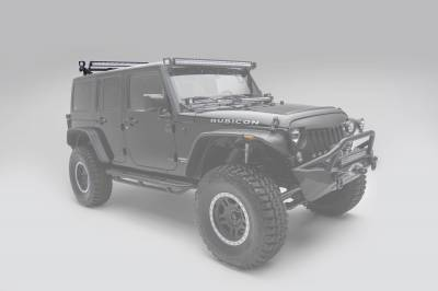 ZROADZ - Jeep JK, JL Modular Rack LED Kit with (1) 40 Inch (1) 20 Inch Straight Double Row Light Bars, (2) 3 Inch LED Pod Lights - PN #Z350050-JK-KIT-B - Image 13
