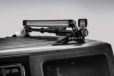 ZROADZ OFF ROAD PRODUCTS - Jeep JK, JL Modular Rack LED Kit with (1) 40 Inch (1) 20 Inch Straight Double Row Light Bars, (2) 3 Inch LED Pod Lights - PN #Z350050-JK-KIT-B - Image 14
