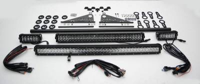 ZROADZ - Modular Rack LED Kit with (1) 40 Inch (1) 20 Inch, (2) 6 Inch LED Straight Double Row Light Bars - PN #Z350050-KIT-B - Image 3