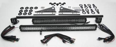 ZROADZ - Modular Rack LED Kit with (1) 40 Inch (1) 30 Inch Straight Double Row Light Bars, (2) 3 Inch LED Pod Lights - PN #Z350050-KIT-E - Image 3