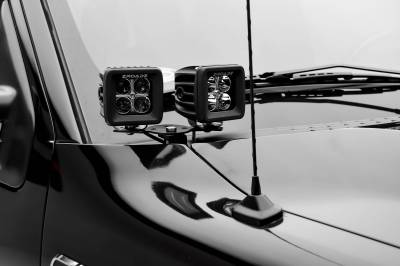 ZROADZ - Hood Hinge Adapter Plate to mount (4) 3 Inch LED Pod Lights to Hood Hinge Bracket - PN #Z360002 - Image 2