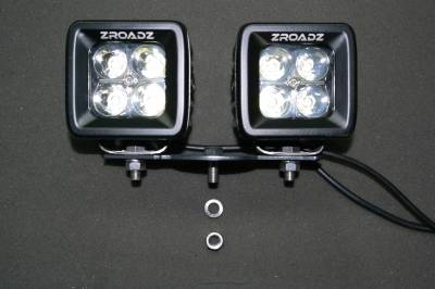 ZROADZ - Hood Hinge Adapter Plate to mount (4) 3 Inch LED Pod Lights to Hood Hinge Bracket - PN #Z360002 - Image 3