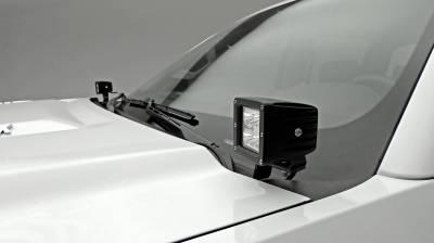 ZROADZ OFF ROAD PRODUCTS - 2015-2019 Silverado 2500, 3500 Hood Hinge LED Bracket to mount (2) 3 Inch LED Pod Lights - PN #Z361221 - Image 1